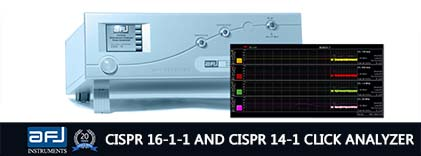 AFJ CISPR 16-1-1 and CISPR 14-1 Click Analyzer