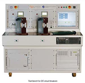 Test bench for DC circuit breakers