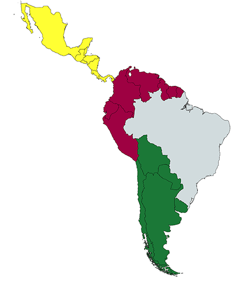 Reliant EMC Central and South American Sales Territories