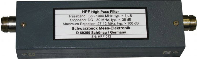 Schwarzbeck HPF High Pass Filter