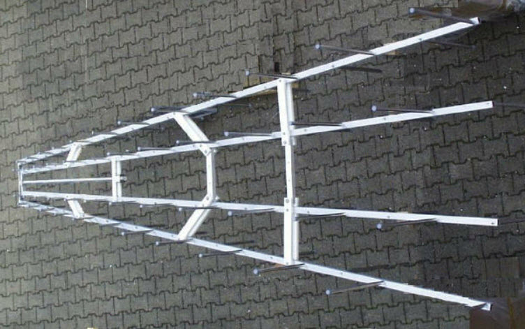 Stacked Logarithmic Periodic Broadband Antenna STLP 100-500