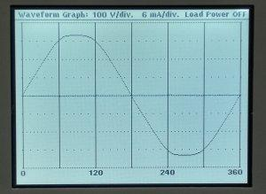 50Hz waveform before AC1000A Filter Correction