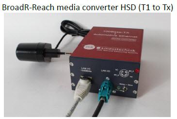 mk-messtechnik schematic for 100BaseT1 automotive setup1 optical link T1 to T1 BroadR-Reach media converter HSD T1 to Tx